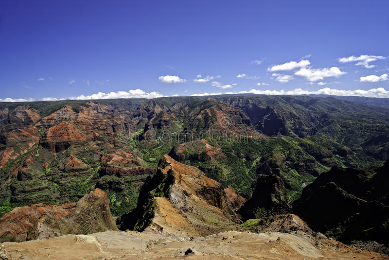 waimea Гавайских островов kauai каньона стоковое фото rf