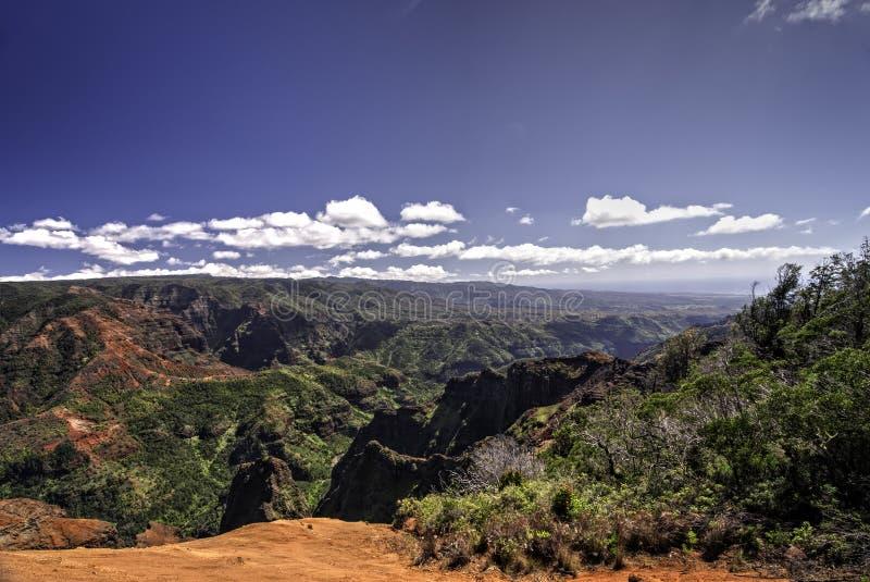 waimea Гавайских островов kauai каньона стоковое фото