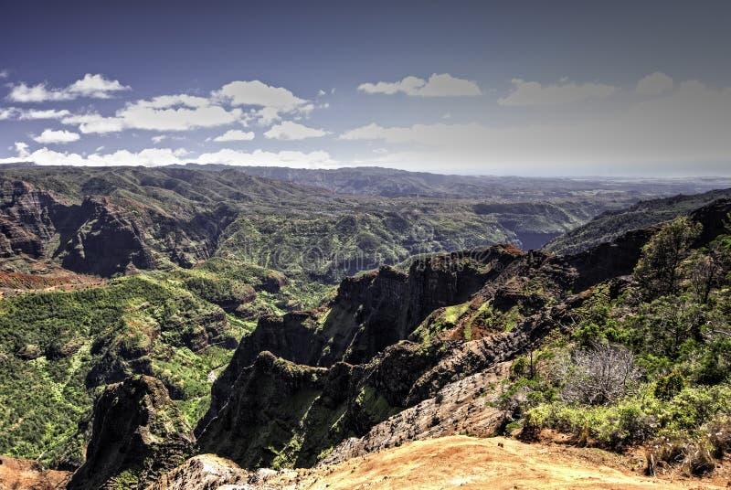 waimea Гавайских островов kauai каньона стоковое изображение rf