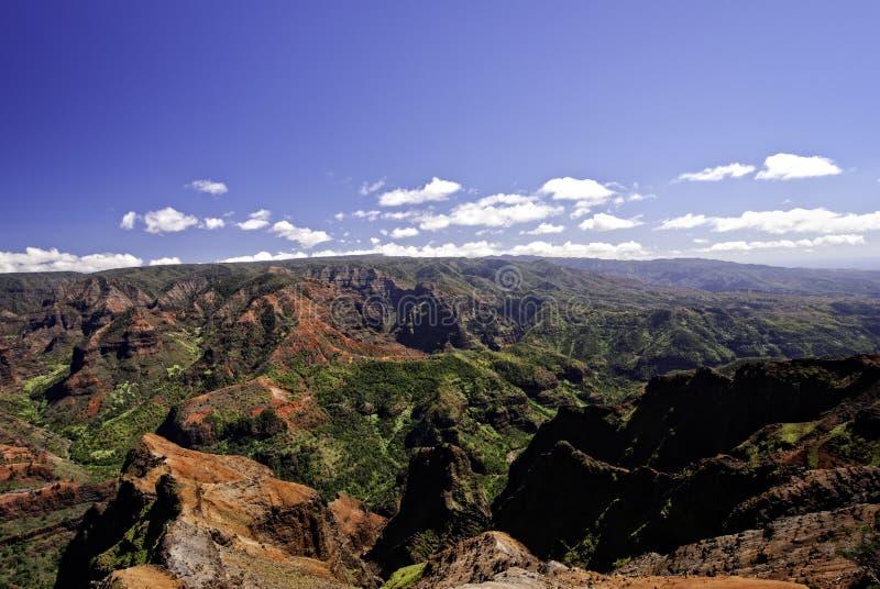 waimea Гавайских островов kauai каньона стоковая фотография rf