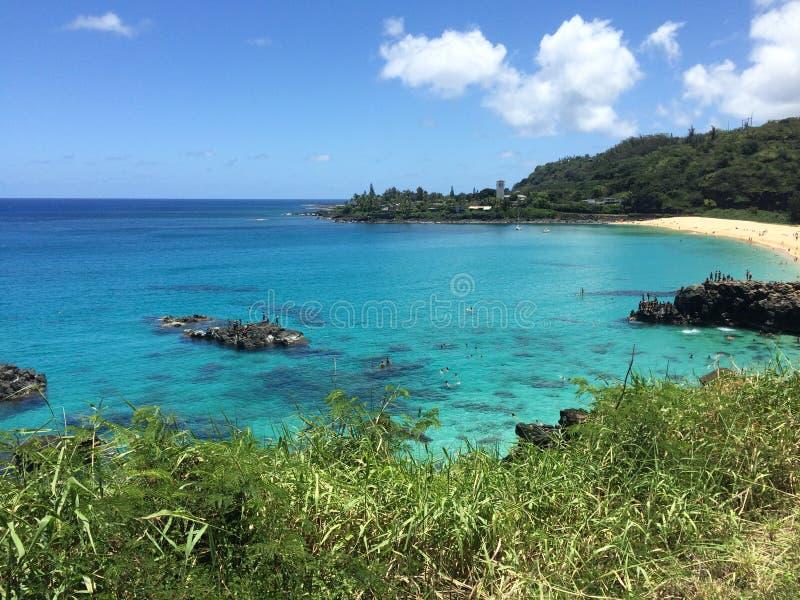 Waimea Bay. On the north shore of oahu hawaii royalty free stock photos