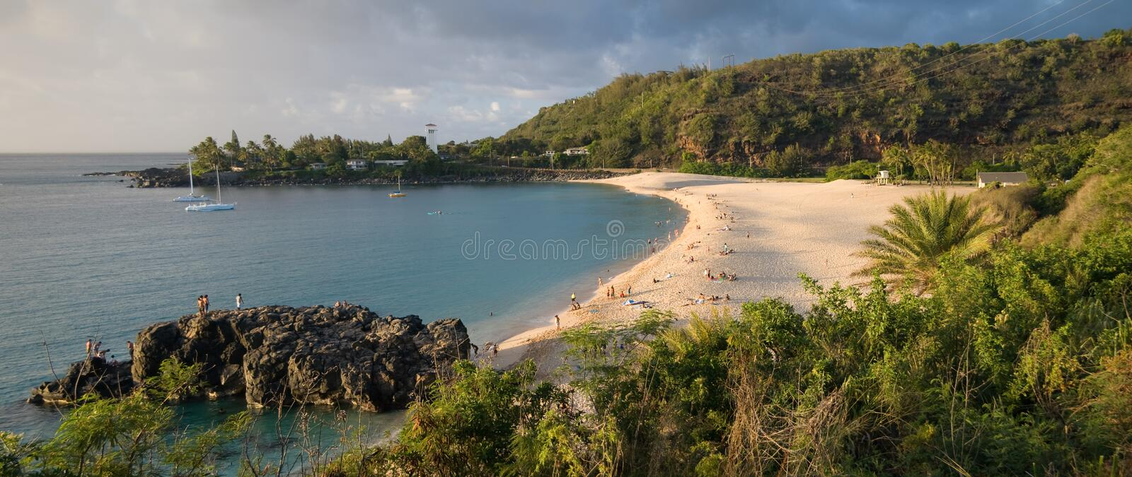 Waimea Beach stock image