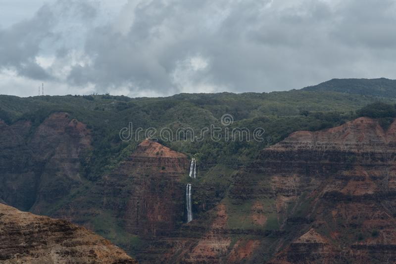 Waimea Canyon on Kauai, Hawaii, in winter after a major rainstorm royalty free stock photo