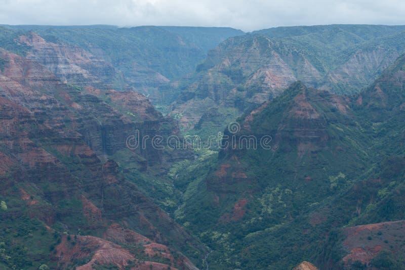 Waimea Canyon on Kauai, Hawaii, in winter after a major rainstorm royalty free stock images