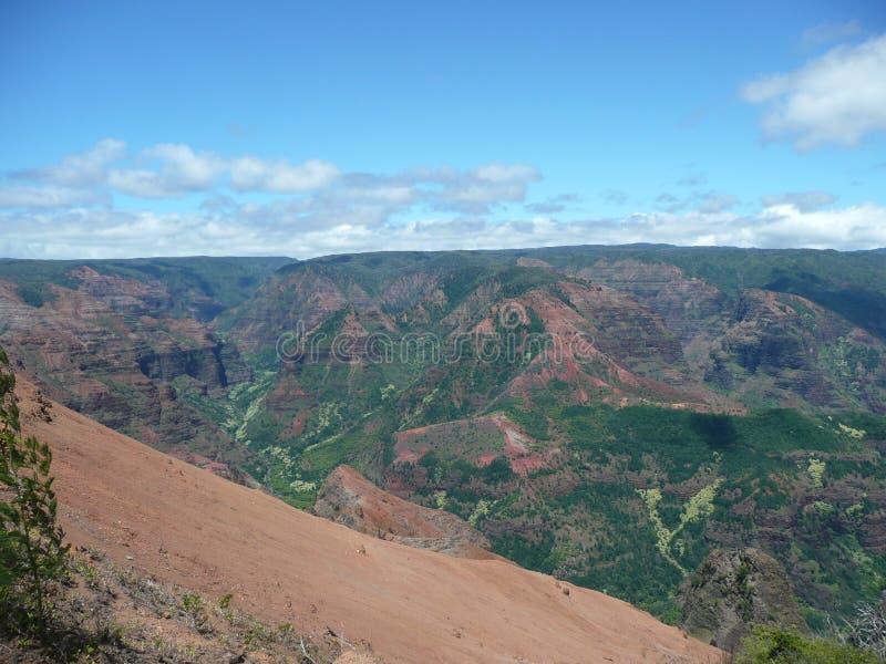 Waimea Canyon in Kauai royalty free stock photography