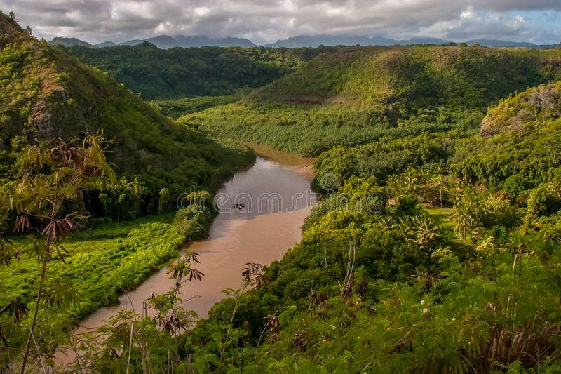 Waimea Canyon river on the beautiful island of Kauai royalty free stock photography