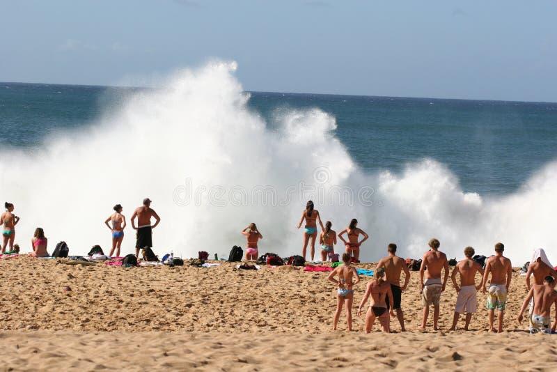 waimea della baia explosion2 fotografia stock