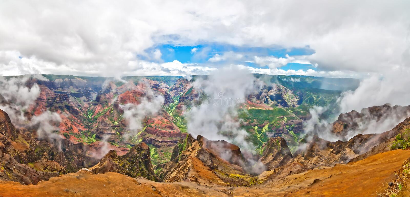 Waimeacanion, het Eiland van Kauai, Hawaï, de V.S. stock foto's