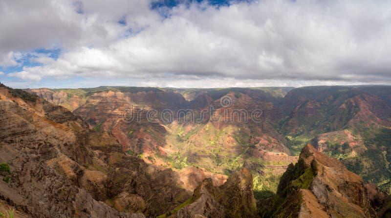 Waimeacanion op het tuineiland Kauai stock foto