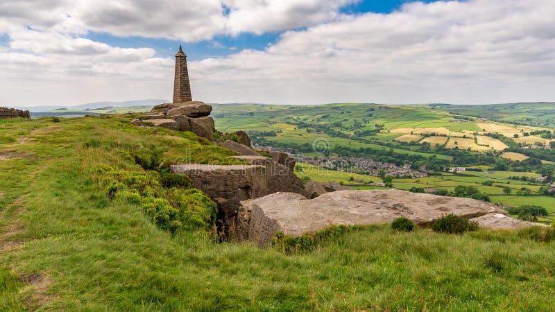 Wainman-` s Berggipfel, North Yorkshire, England, Großbritannien stockbilder