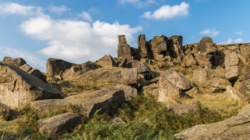 Wainstones, North Yorkshire, Regno Unito fotografia stock