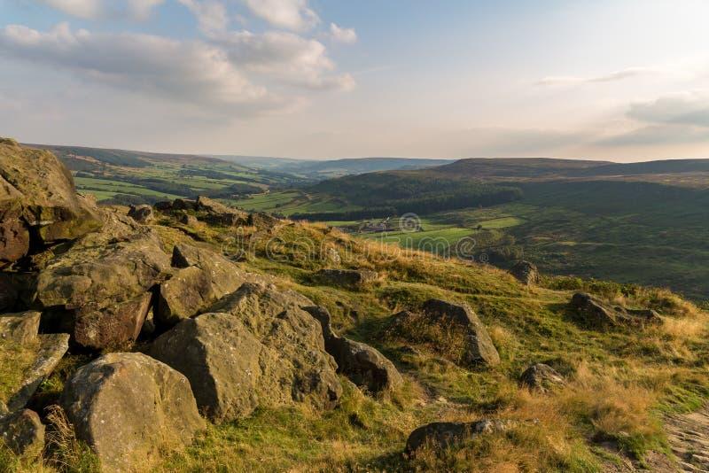 Wainstones, North Yorkshire, Regno Unito fotografie stock