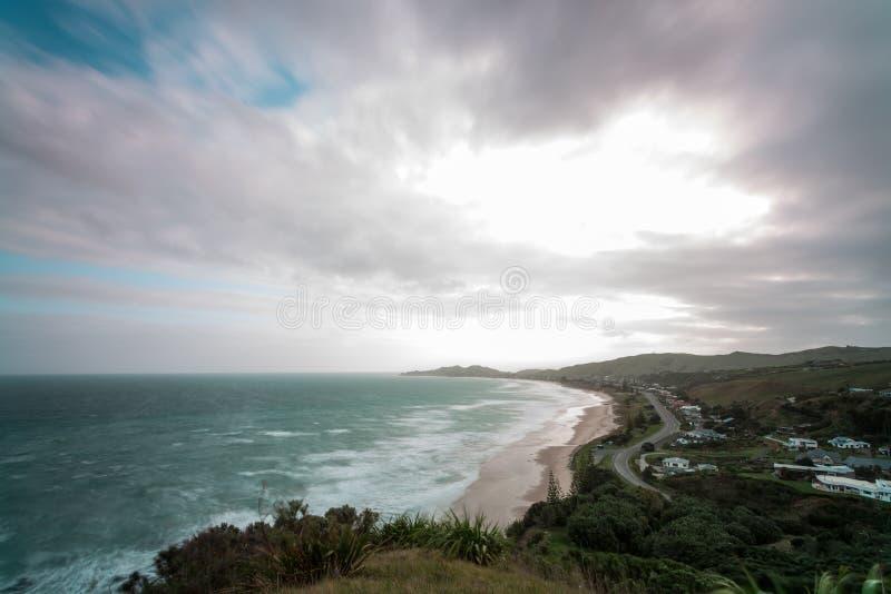 Wainui-Strand, Gisborne, NZ lizenzfreie stockbilder