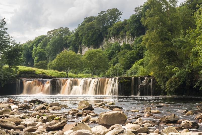 Wianwath falls. Wainwath Falls on the river swale in the Yorkshire Dales National Park, Yorkshire, England. 05 August 2007 stock photo