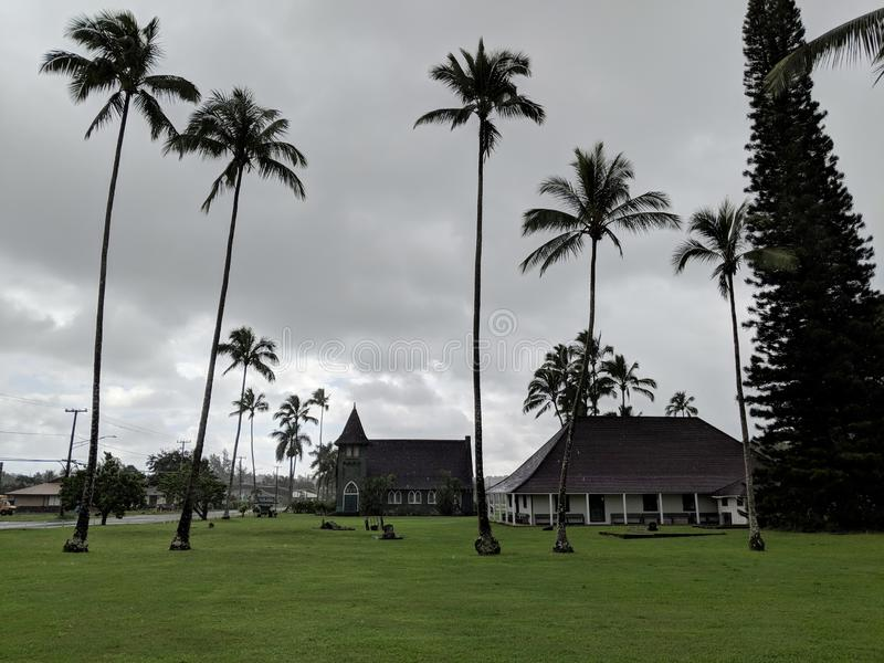 Waioli Huiia Church and Mission House royalty free stock images