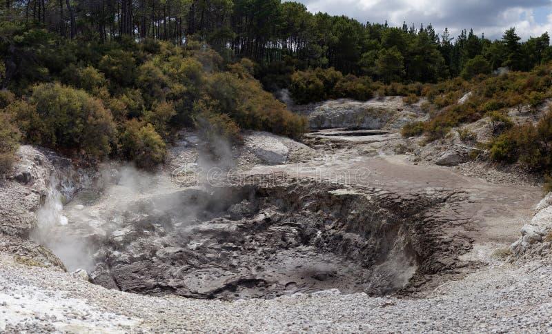 Download WaiOTapu Geothermal Wonderland, New Zealand Stock Image - Image of cloudscape, crust: 38958631