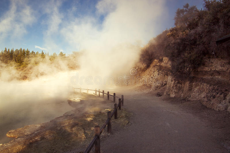 Waiotapu varma geysers fotografering för bildbyråer