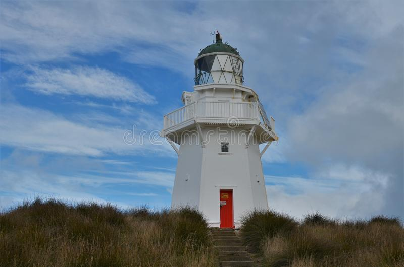 Waipapa Point lighthouse New Zealand royalty free stock photos