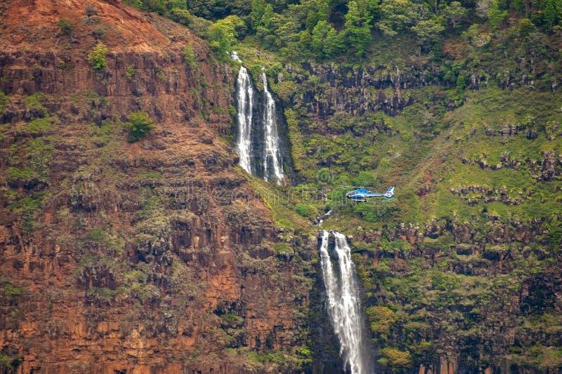 Waipo 'O-Fälle, Waimea-Schlucht, Kauai, Hawaii stockfotos