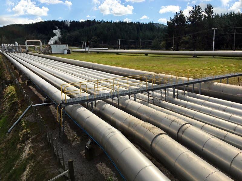 Wairakei Geothermische Krachtcentrale Taupo Nieuw Zeeland royalty-vrije stock afbeelding