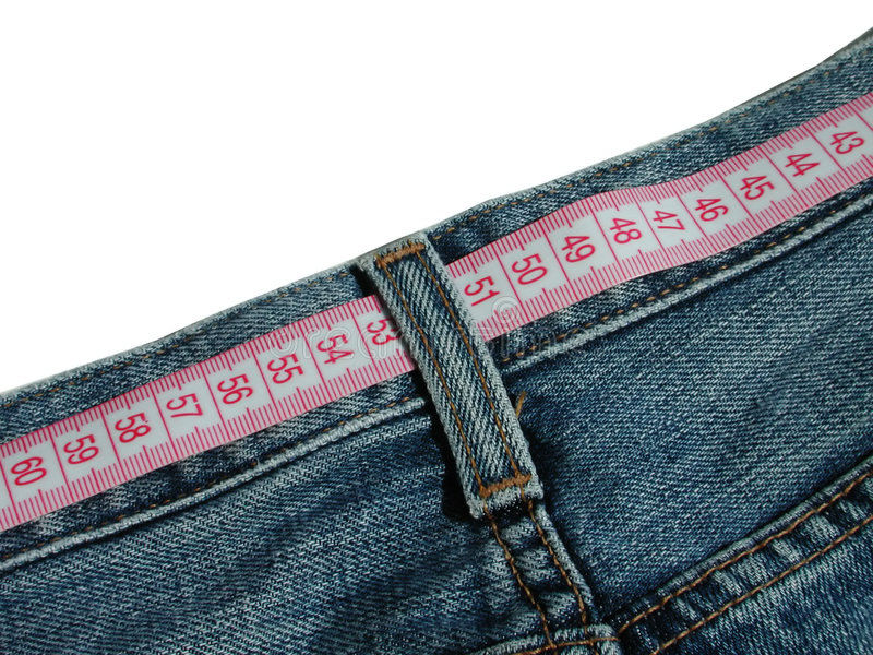 Waist measure stock images