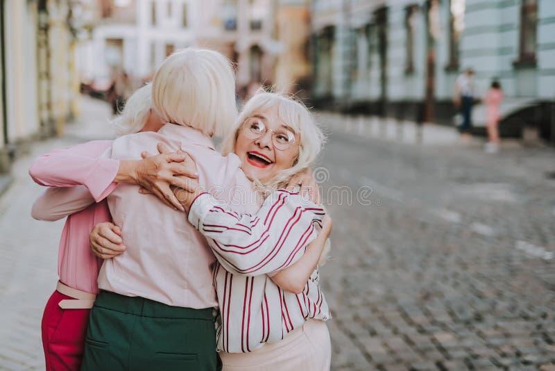 senior woman meeting vosges
