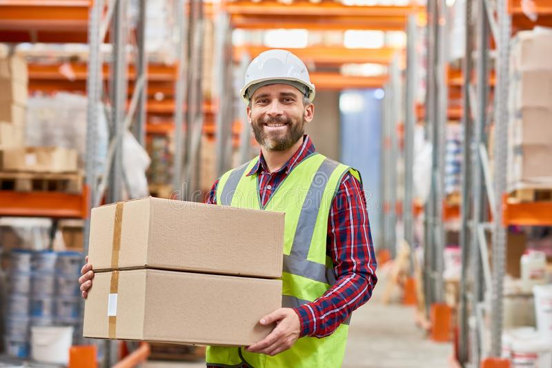 Worker Shipping Warehouse royalty free stock photo