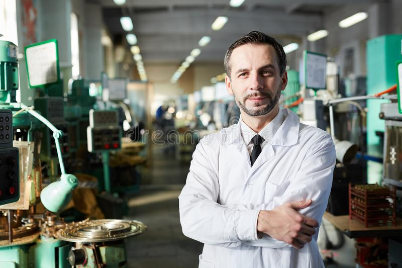 Factory Inspector Posing royalty free stock photo