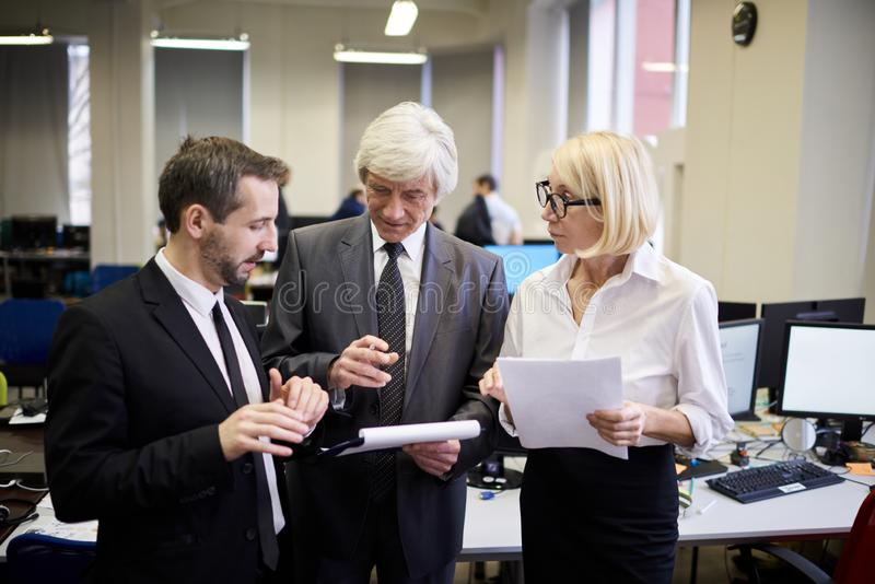 Mature Executives in Office royalty free stock photography