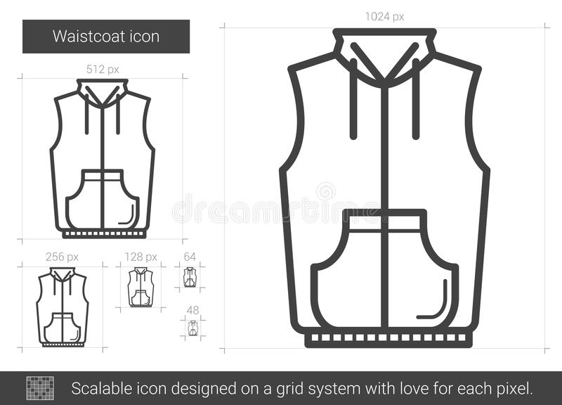 Waistcoatlinje symbol stock illustrationer
