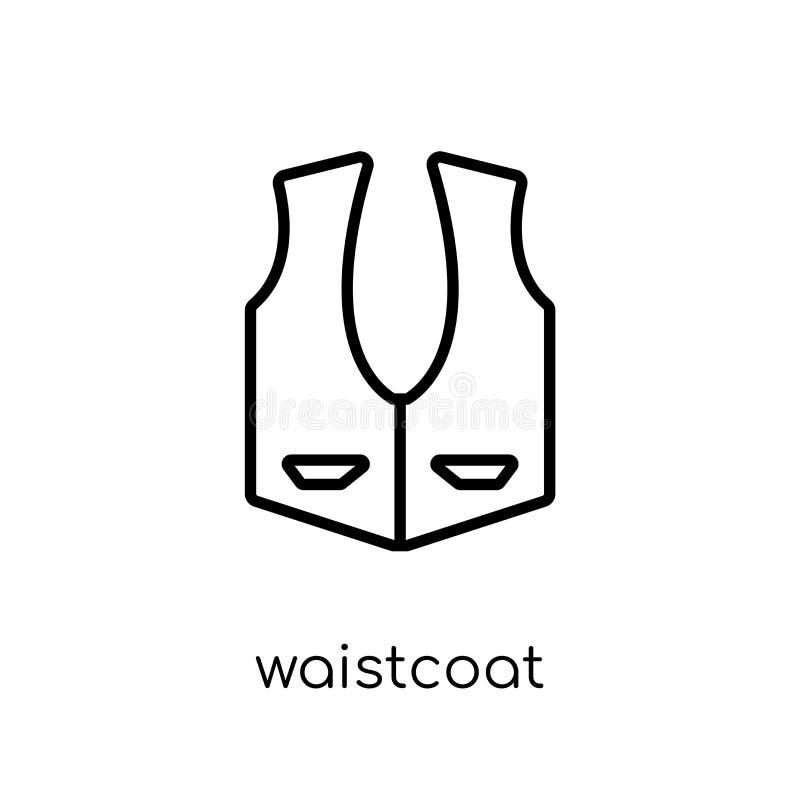 Waistcoatsymbol från klädersamling stock illustrationer