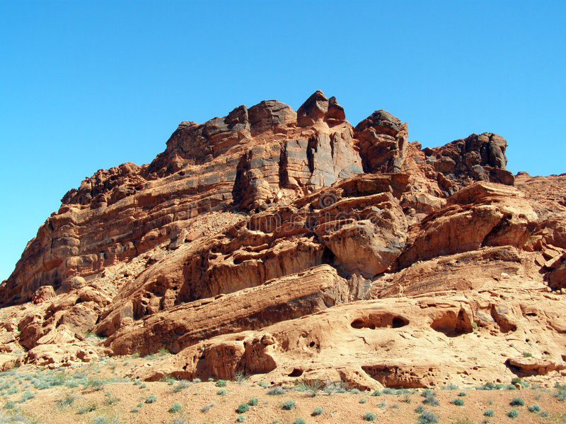 Waisting Away. Rock formation found in the Valley of Fire in Nevada royalty free stock photos