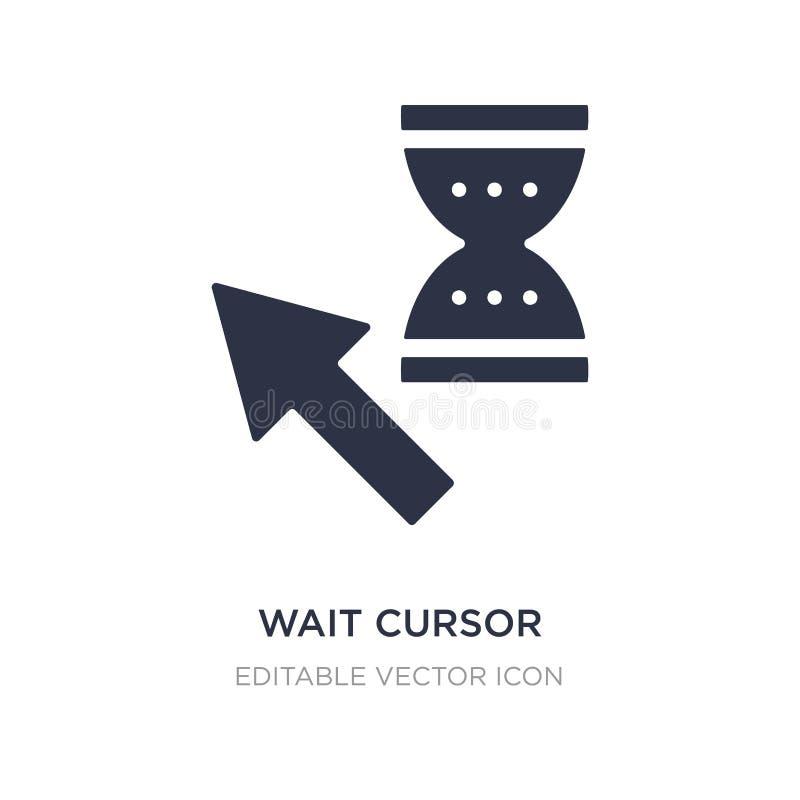 Wait cursor icon on white background. Simple element illustration from UI concept. Wait cursor icon symbol design royalty free illustration