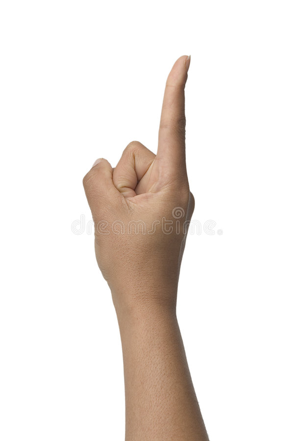 Download Wait a second stock photo. Image of deafness, pointer, handsign - 42410