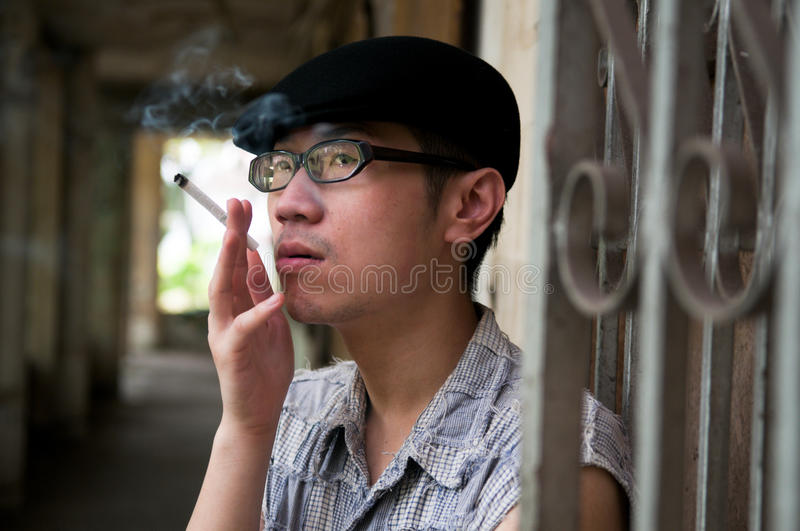 Download Wait And Smoke Royalty Free Stock Photography - Image: 10233787