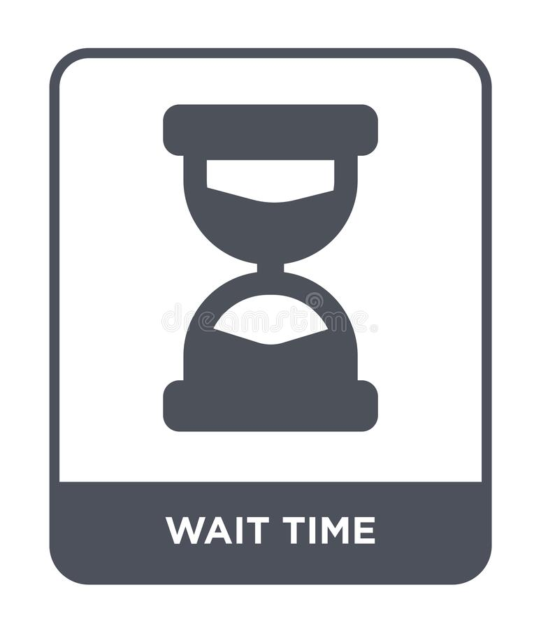 Wait time icon in trendy design style. wait time icon isolated on white background. wait time vector icon simple and modern flat. Symbol for web site, mobile royalty free illustration