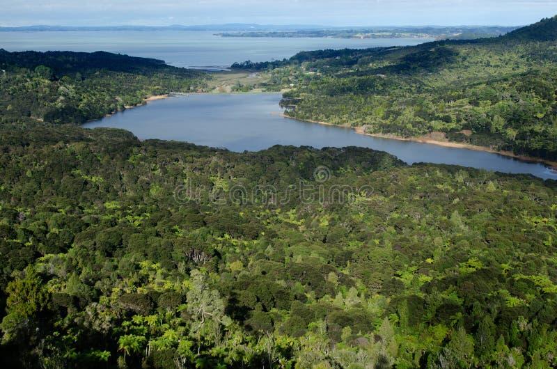 Waitakere-Reservoir - Neuseeland lizenzfreies stockbild