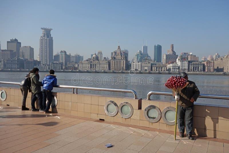Waitan Shanghai royalty-vrije stock fotografie