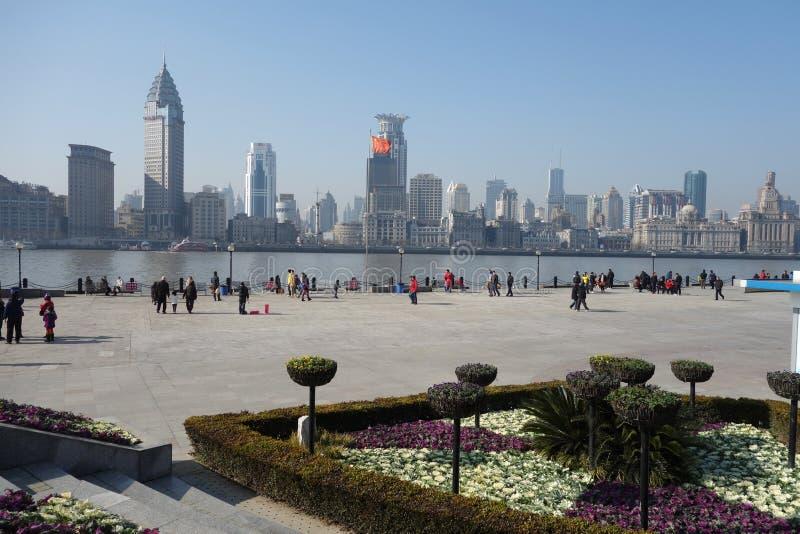 Waitan Shanghai royalty-vrije stock afbeelding
