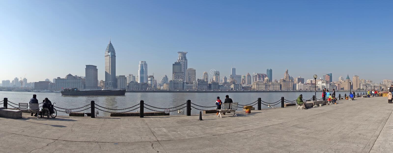 Waitan Shanghai royalty-vrije stock foto