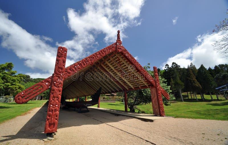 Waitangi条约地面,新西兰 免版税库存图片