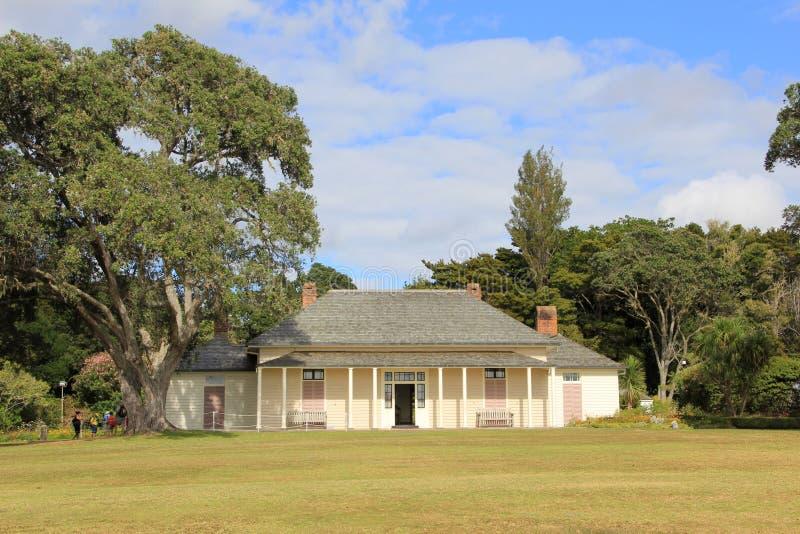 Waitangi的新西兰条约议院 免版税库存照片