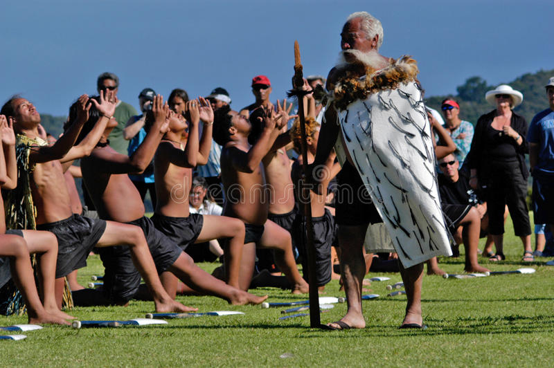 Waitangi dag - nyazeeländsk offentlig ferie arkivbild