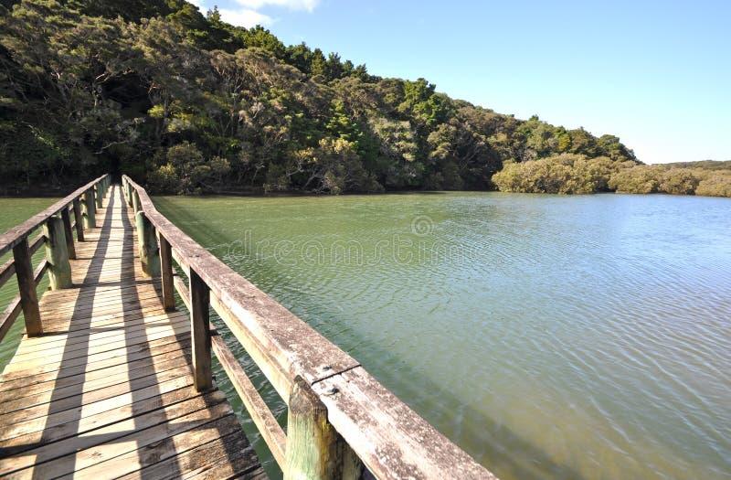 Waitangi river bridge, New Zealand stock photos