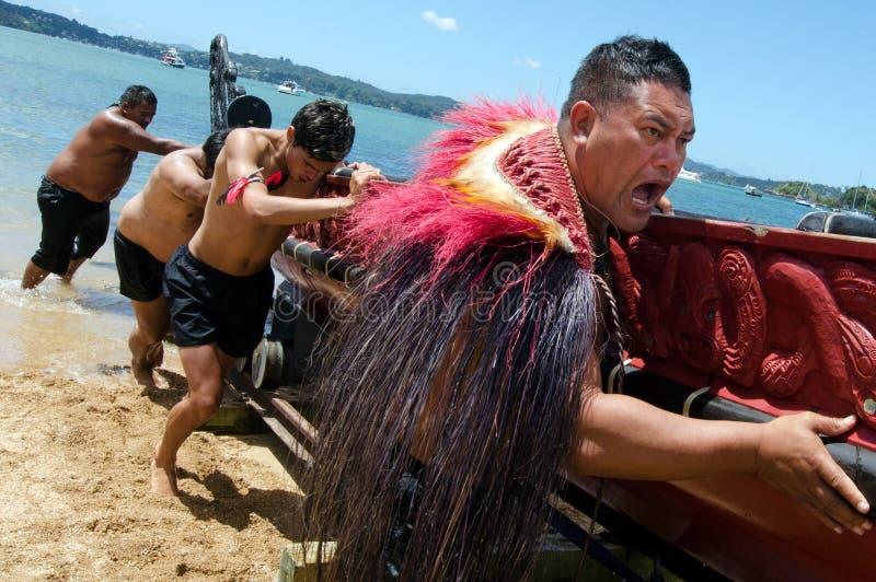 Waitangi Tag und Festival - gesetzlicher Feiertag 2013 Neuseelands lizenzfreie stockfotografie