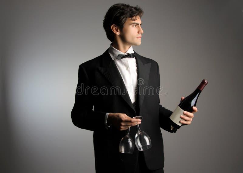 Download Waiter stock image. Image of taste, handsome, portrait - 10428583