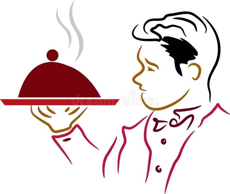 Waiter stock illustration