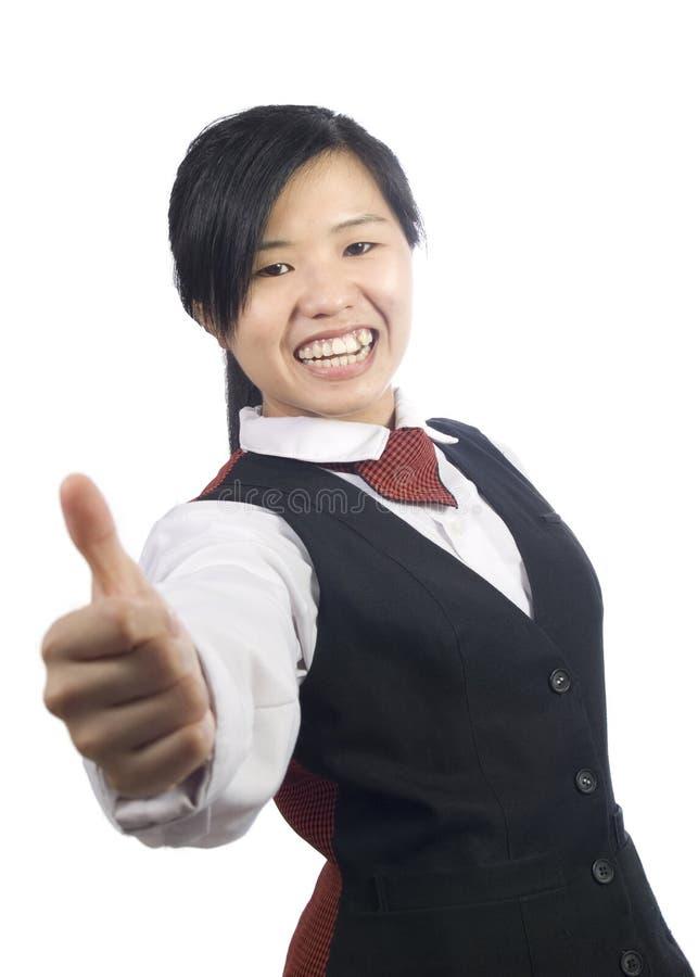 Waiter-2 imagem de stock