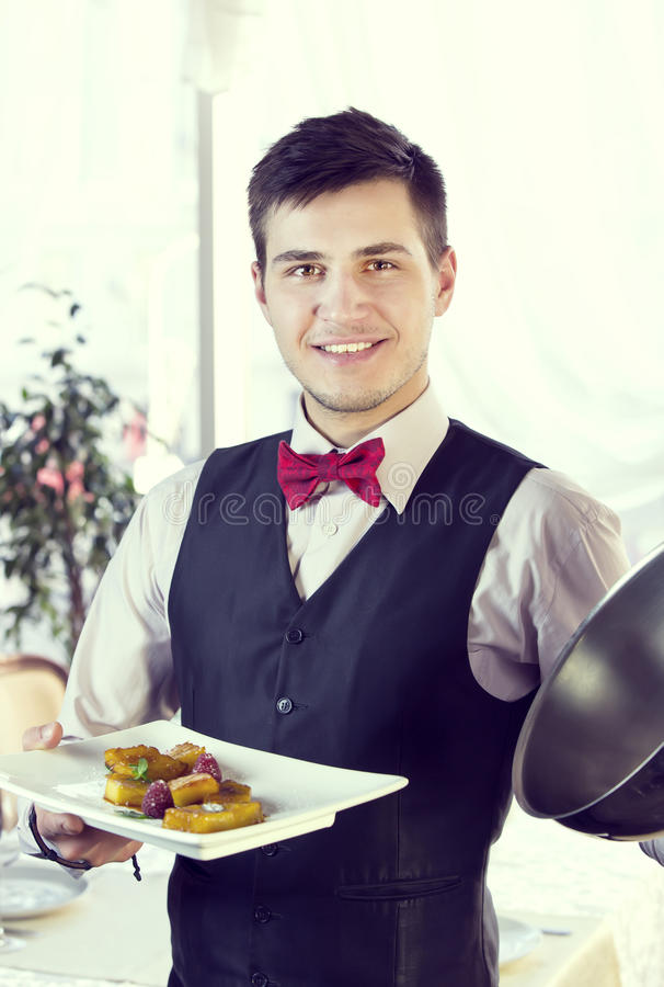 waiter imagens de stock