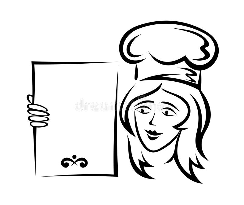 Waiter With Blank Menu Stock Image